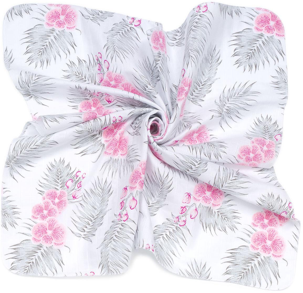 MAMO-TATO Pieluszki muślinowe pielęgnacyjne 35x35 dla niemowląt 3szt - Kwiaty