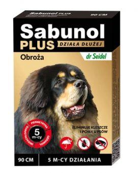 Sabunol Plus Obroża dla Psa Przeciw Pchłom i Kleszczom 90 cm - Działanie do 5 miesięcy