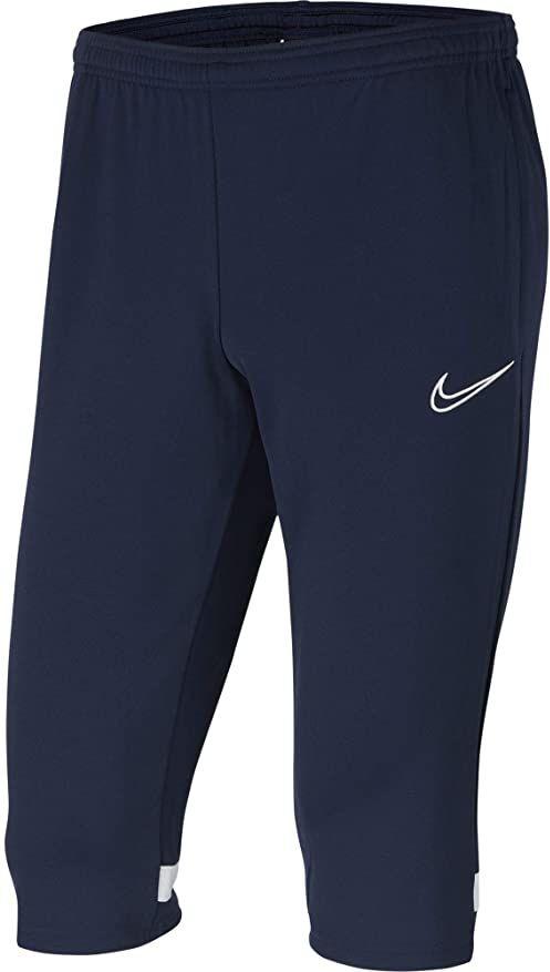 Nike Dziecięce spodnie treningowe Academy 21 3/4 Knit Pant (Youth) Obsydian/White/White/White 10-12 Lat