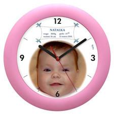 Zegar pamiątka urodzin dziewczynki