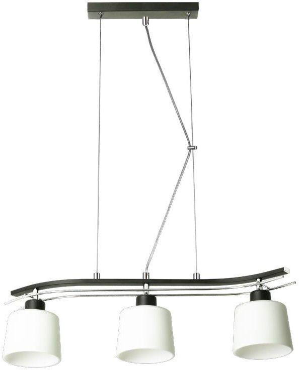 Lampex Olimp 3 723/3 CZA lampa wisząca klasyczna szklane klosze 3x60W E27 67cm