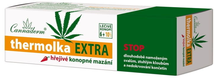 Thermolka EXTRA maść konopna rozgrzewająca 6% oleju + 10% ekstraktu z konopi 150ml