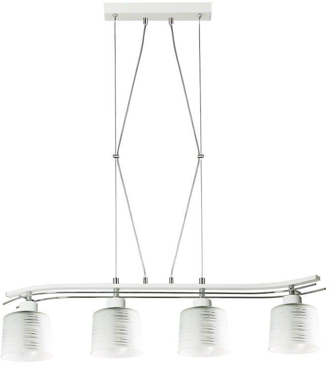 Lampex Olimp 4 723/4 BIA lampa wisząca klasyczna biała mleczne klosze 4x60W E27 82cm