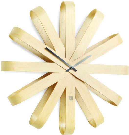Zegar ścienny Ribbonwood Umbra (drewniany)