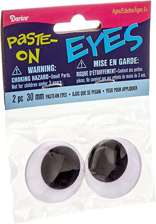 Darice Ruchome oczy do naklejenia, 30 mm, czarne, 2 sztuki