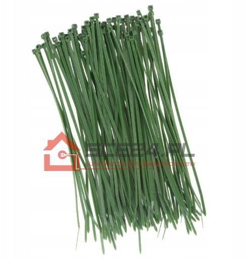 Opaski zaciskowe 3,6 x 300 TRYTKI zielone 100szt