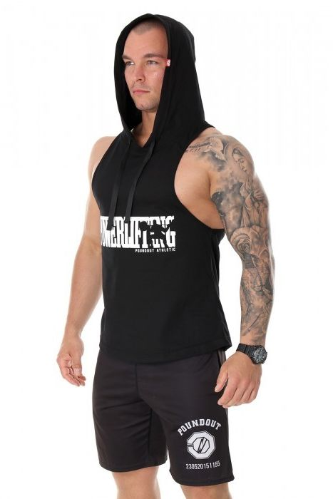 Poundout tank top bokserka z kapturem Powerlifting