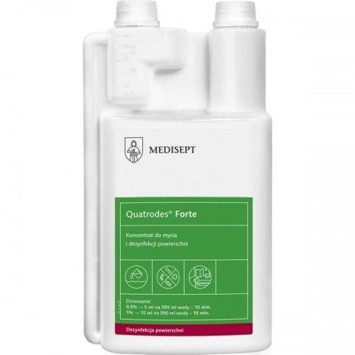 Koncentrat dezynfekująco-myjący do powierzchni MEDISEPT QUATRODES FORTE 1L z dozownikiem /SSE-GOT-ML306/