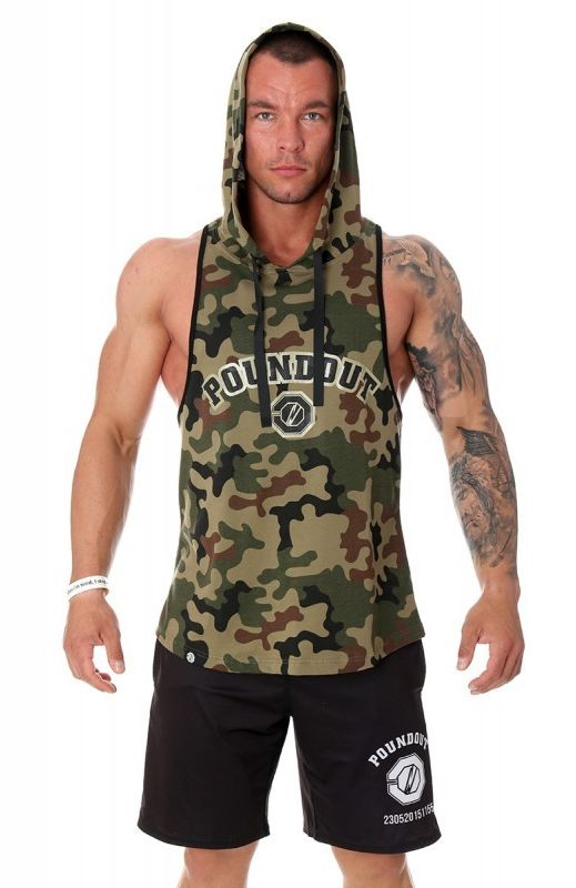 Poundout tank top bokserka z kapturem Unit