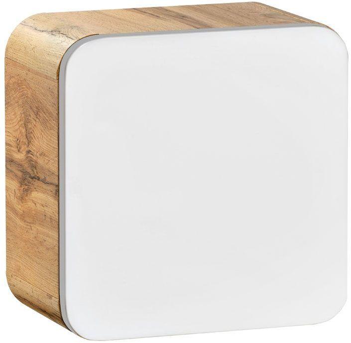 Wisząca kwadratowa szafka łazienkowa Borneo 2X - biały połysk