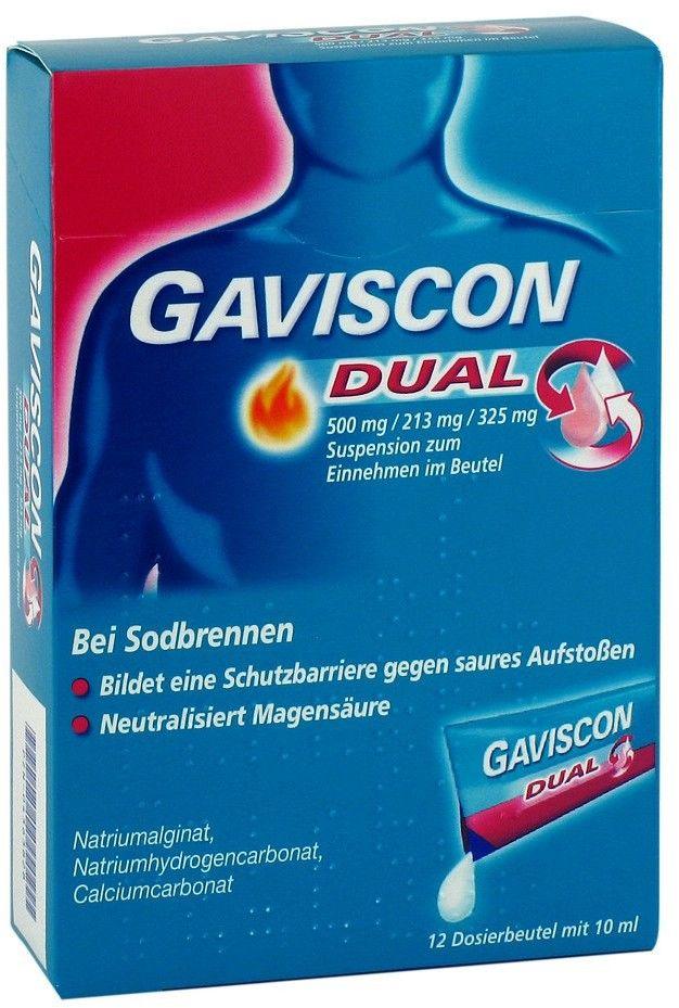 Gaviscon Dual 500mg/213mg/325mg saszetki