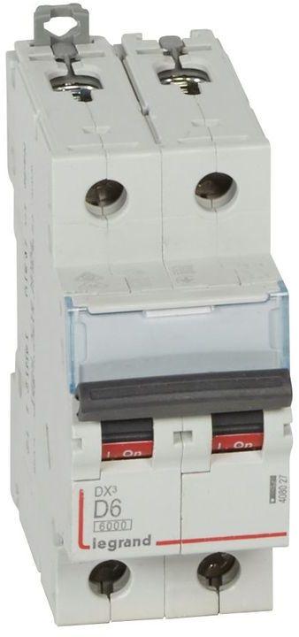 Wyłącznik nadprądowy 2P D 6A 6kA S302 DX3 408027