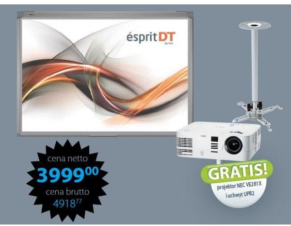 Tablica interaktywna Esprit DT w zestawie Nec VE281X + uchwyt UPB2