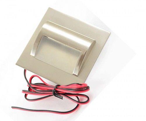 Oprawa schodowa LED 1,5W 230V biała zimna - satyna