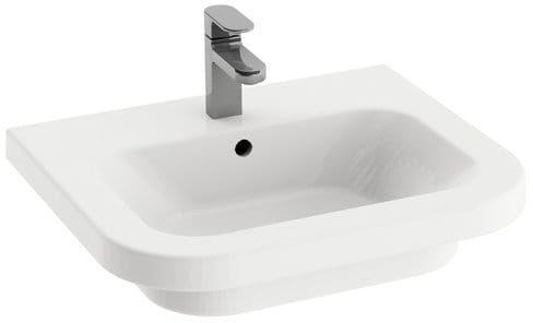 Ravak umywalka ceramiczna Chrome 550 biała z otworami XJG01155000