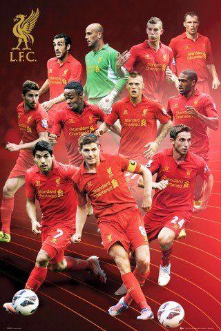 Piłka nożna - FC Liverpool, gracz 2012/13 plakat (91 x 61 cm)