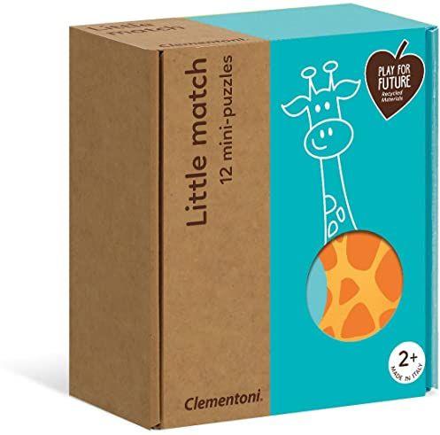 Clementoni 16252 Little Match puzzle dla dzieci, 24 części, 100% materiał z recyklingu, od 2 lat, wielokolorowe