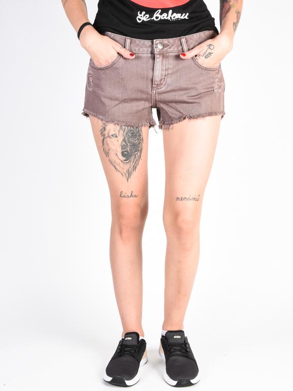 RVCA HELLO MELLOW RAISIN damskie spodenki jeansowe - 29