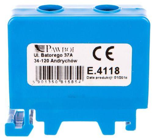Złączka szynowa 1x50mm2 niebieska E.4118