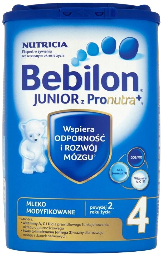 Bebilon Junior 4 mleko modyfikowane powyżej 2 roku życia proszek 800 g