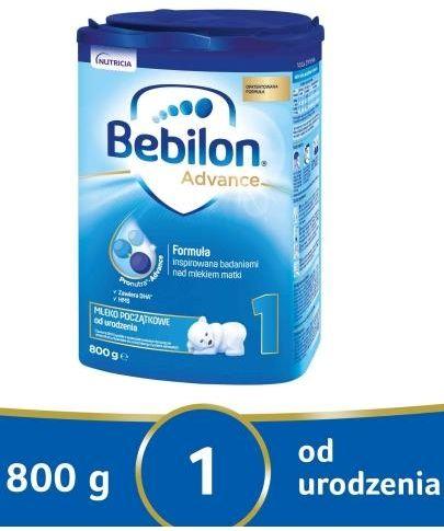 Bebilon 1 Pronutra Advance mleko początkowe od urodzenia 800 g [Data ważności 25-11-2021]***
