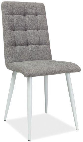 Krzesło OTTO szare pikowane z białą podstawą  KUP TERAZ - OTRZYMAJ RABAT