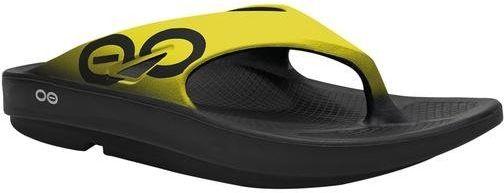 OOFOS klapki sportowe regeneracyjne OOriginal Sport czarno-żołte - Czarno-żółty