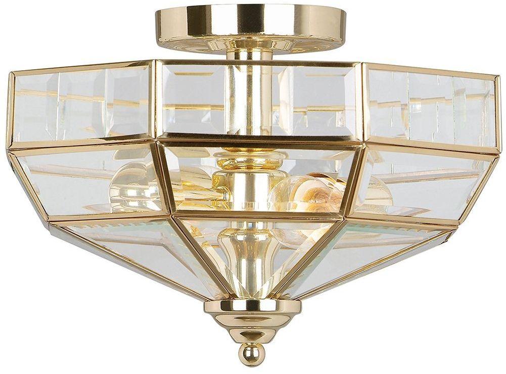 Old Park Polished Brass - Elstead Lighting - lampa sufitowa klasyczna