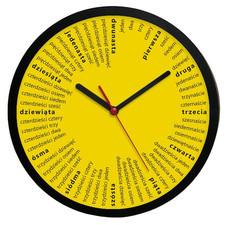 Zegar ścienny solid żółte liczydło