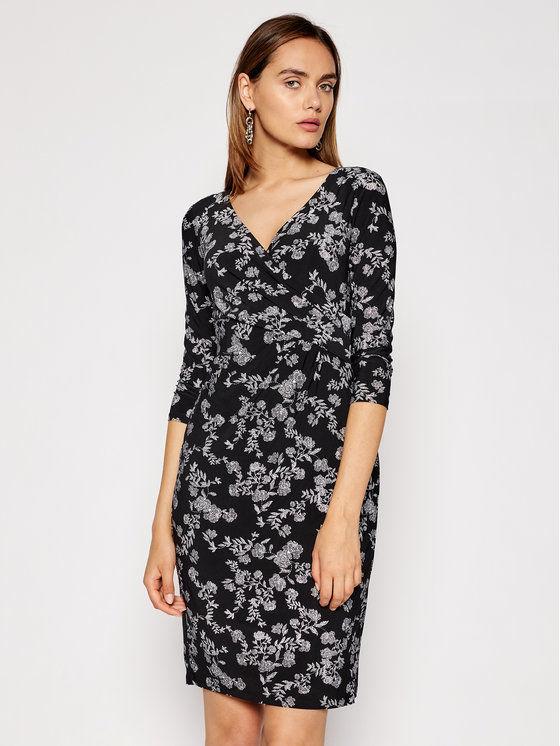 Lauren Ralph Lauren Sukienka codzienna 250837468001 Czarny Regular Fit