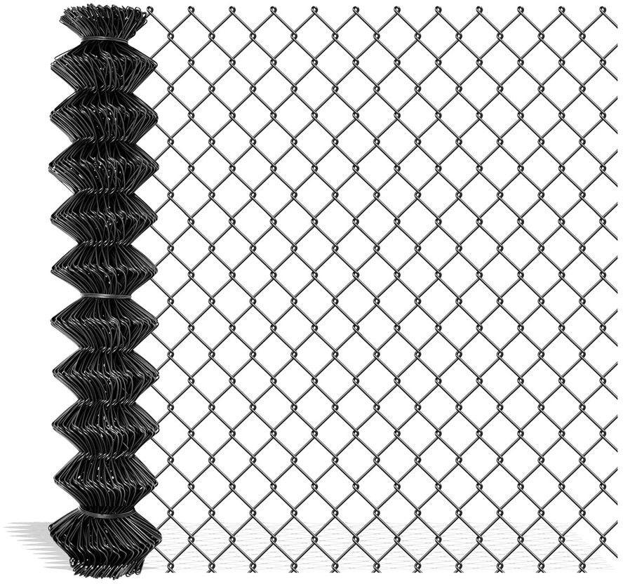 Siatka ogrodzeniowa pleciona Polargos 1 x 10 m drut 2,4 mm antracyt