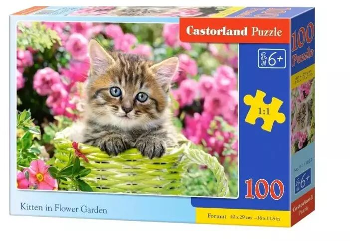 Puzzle 100 Kittens in Flower Garden CASTOR