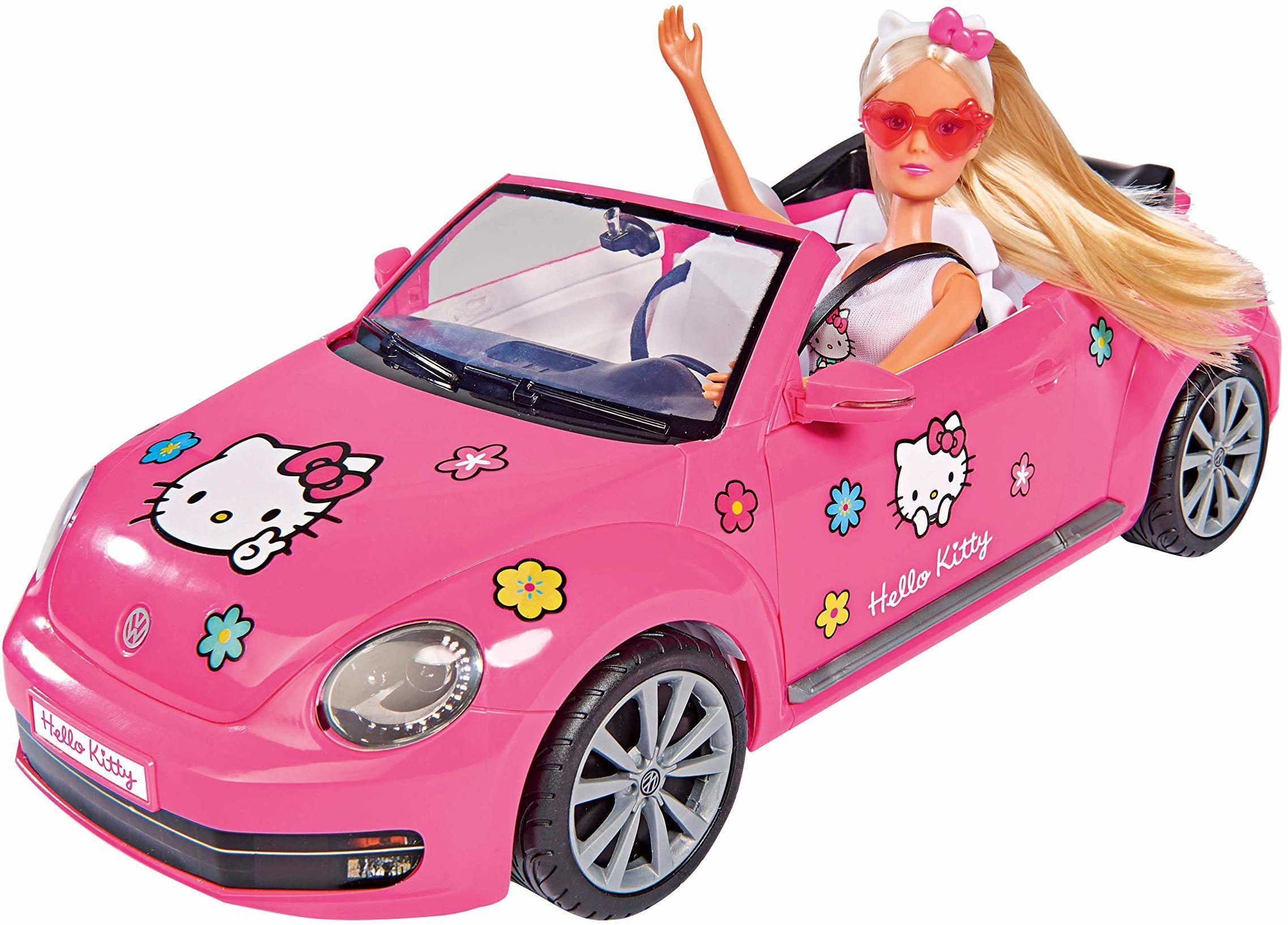 Simba 109283023 Hello Kitty Steffi Love VW Beetle Cabriolet
