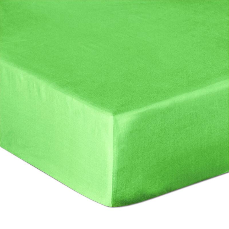 Prześcieradło satynowe z gumką 200x220 zielone 014 Darymex