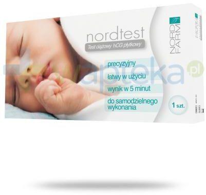 Nordtest płytkowy test ciążowy hCG 1 sztuka