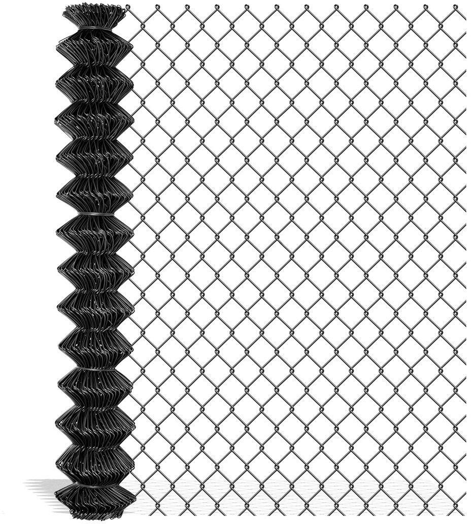 Siatka ogrodzeniowa pleciona Polargos 1,2 x 10 m drut 2,4 mm antracyt