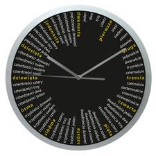 Zegar ścienny solid czarne liczydło