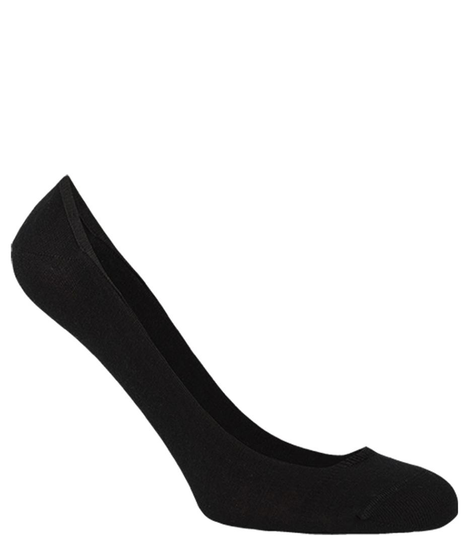 Stopki damskie bawełniane BALETINA do balerinek, z silikonową zapiętką - antybakteryjne