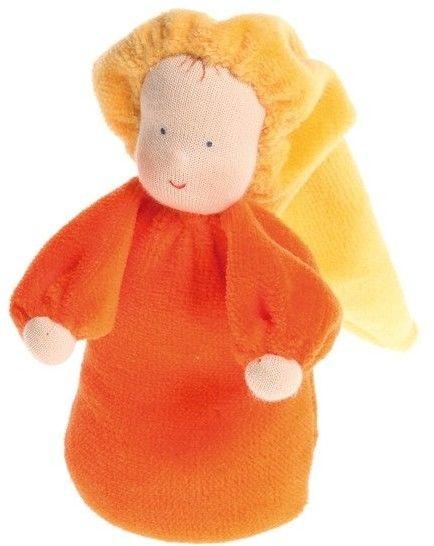 Grimm''s - Laleczka Mięciutka 0+, Pomarańczowa, Grimm''s