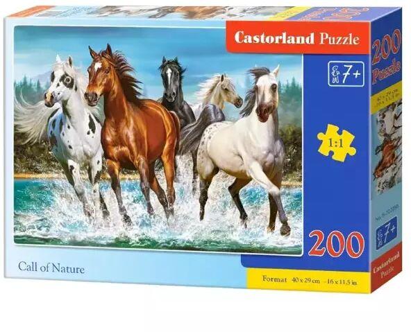 Puzzle 200 Call of Nature CASTOR - Castorland