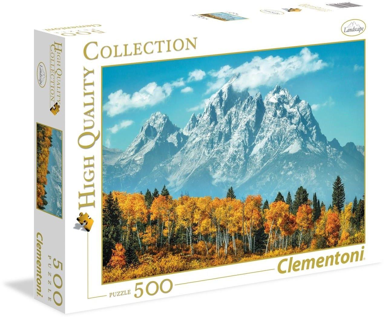 Puzzle Clementoni 500 - HQ - Grand Teton jesienią, Grand Teton in fall