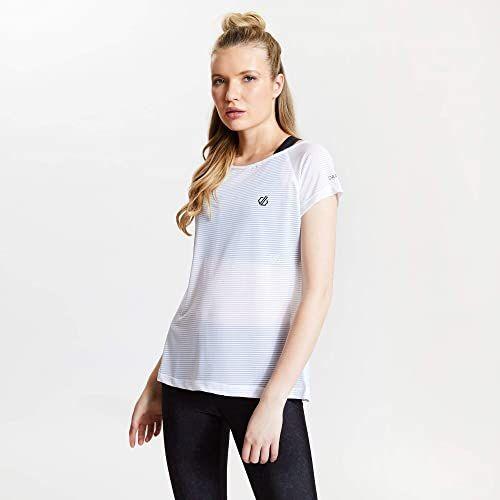 Dare2b damskie DWT504 90010L Defy'' stretch szybkoschnący krótki rękaw aktywne t-shirty/koszulki polo/kamizelki, białe, 10