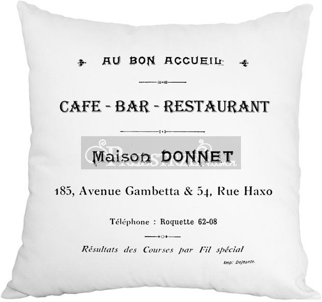 PODUSZKA OZDOBNA FRENCH HOME - CAFE BAR BIEL