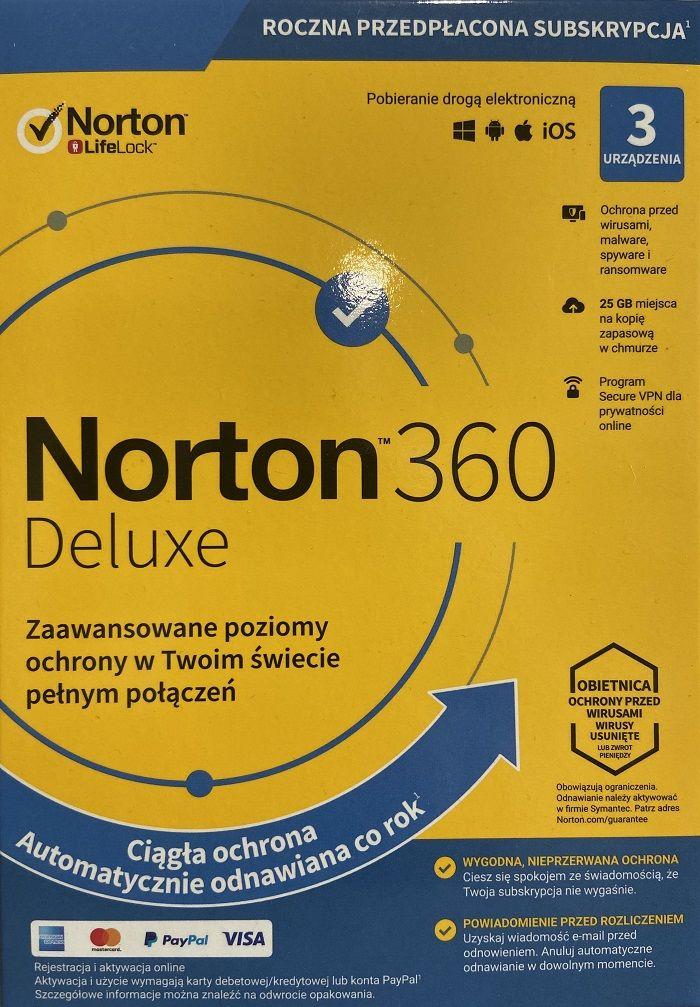 Norton 360 Deluxe 3PC 1Rok