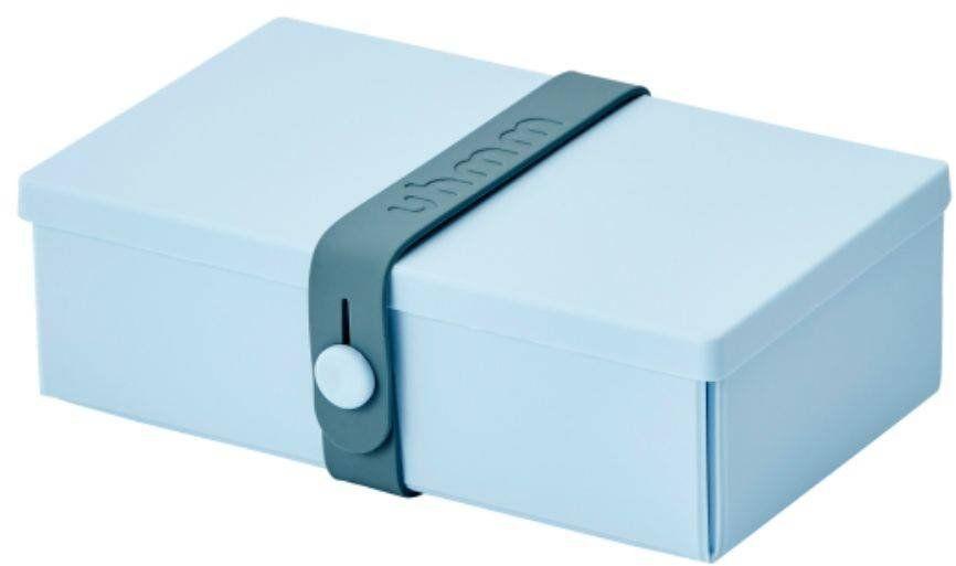 No.01 składany lunchbox z opaską Uhmm - light blue / petrol - light blue/petrol