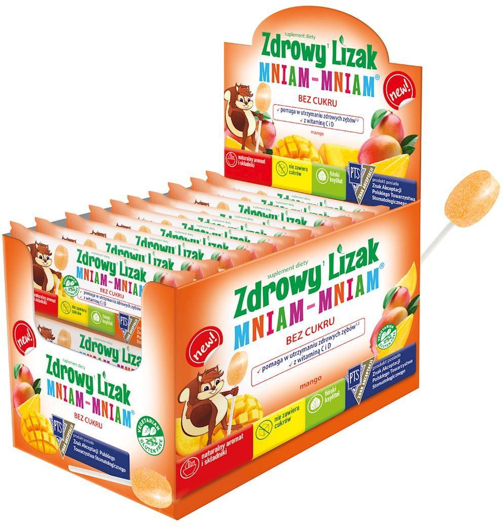 Lizak o smaku mango mniam-mniam bezglutenowy 6 g - starpharma
