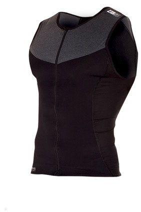 ZEROD koszulka triathlonowa ELITE SINGLET czarno-szara