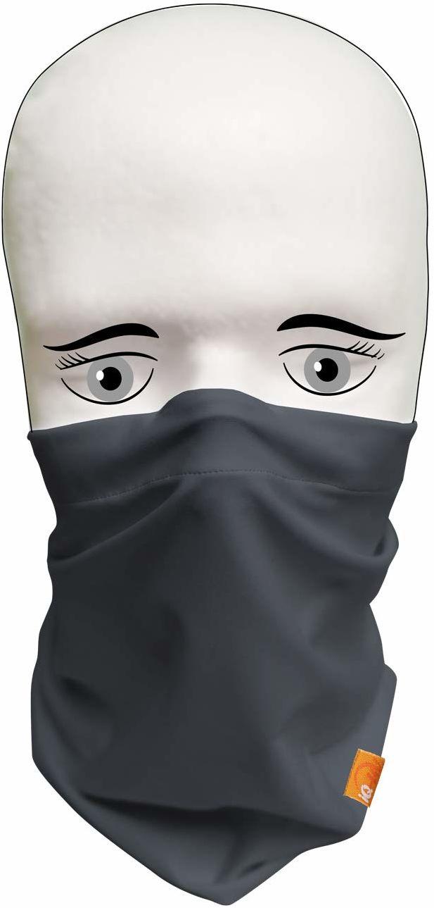 iQ-UV Mężczyźni 2X IQ Community chusta wielofunkcyjna maska tube-maski, zestaw 2 sztuk, szara, L