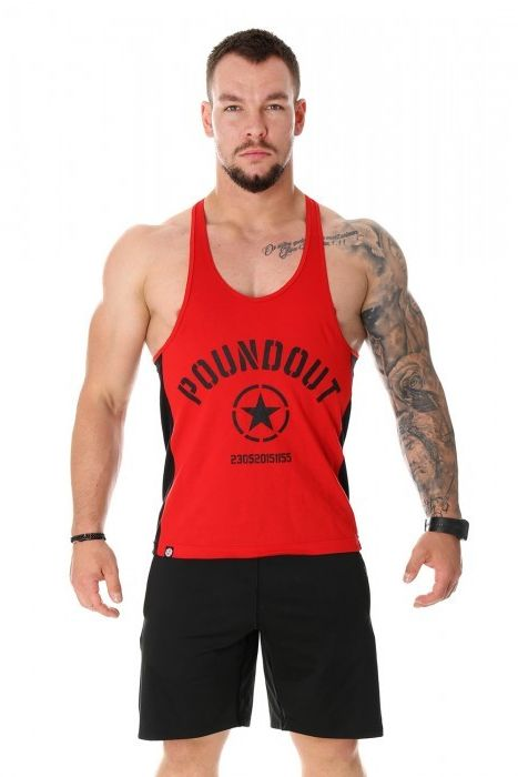 Poundout tank top Stringer FORCE czerwony