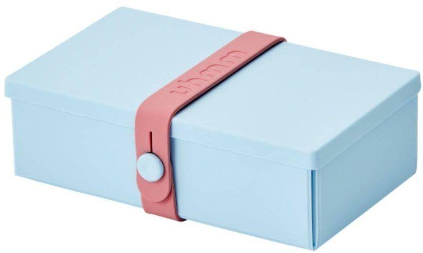 No.01 składany lunchbox Uhmm - light blue / pink - light blue/pink